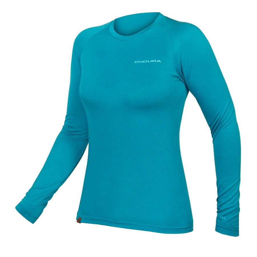 BaaBaa Blend Long Sleevesc Winter Baselayer Woman Blue Size XS