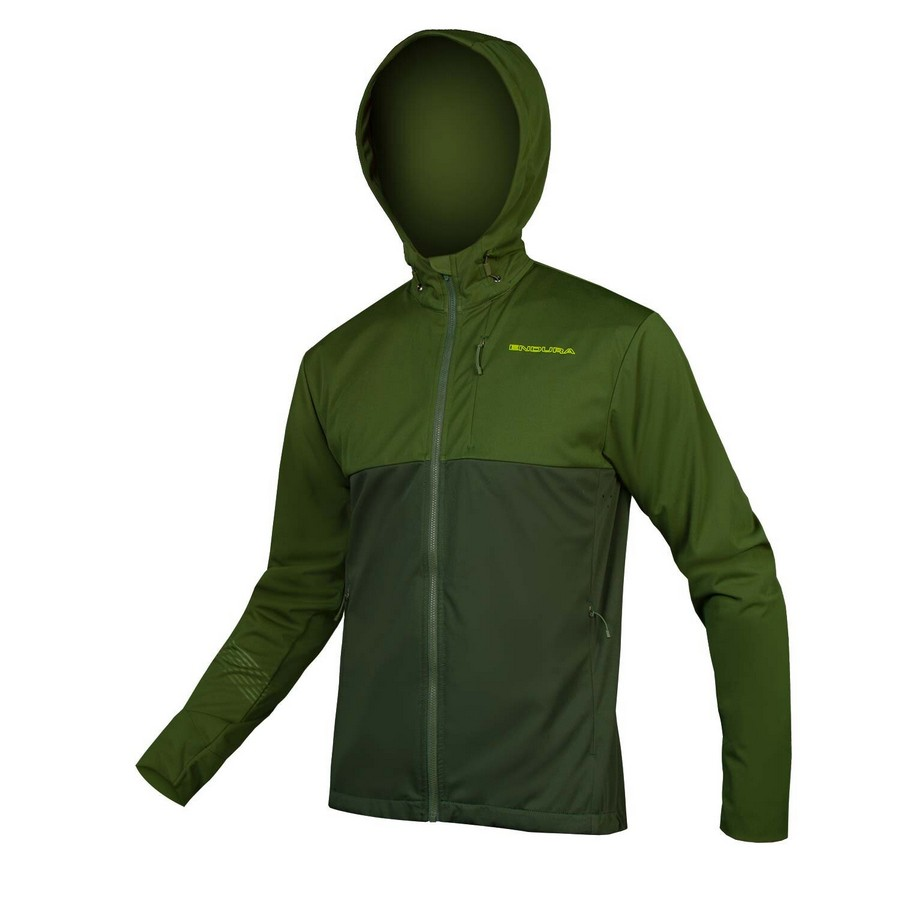 SingleTrack Windproof Softshell II Green Size S