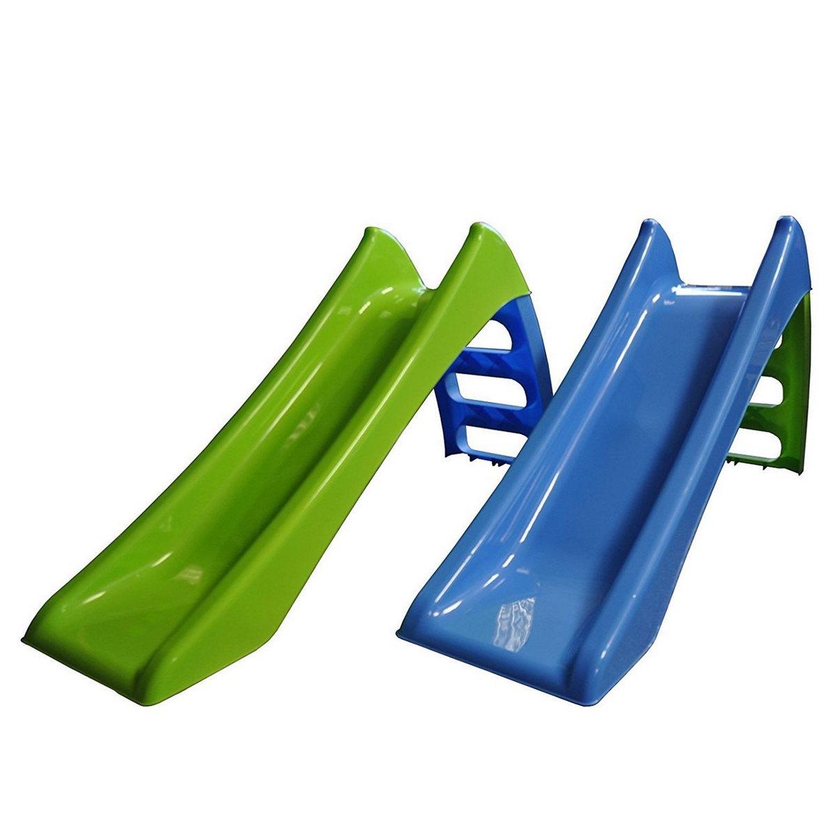 Scivolo 3 gradini 116X36X62,5cm verde blu