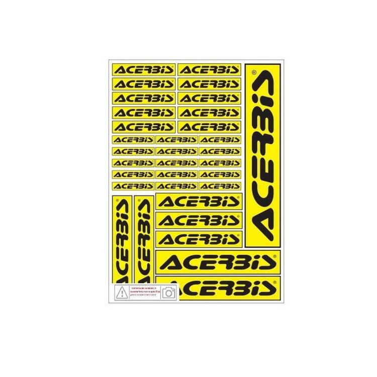 Logo decal sheet black/yellow