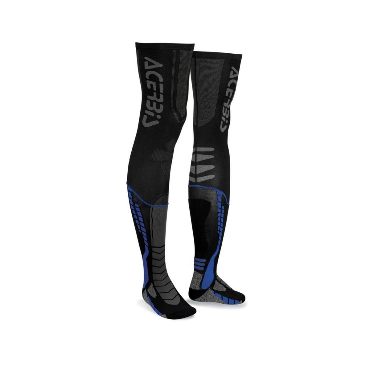 Motocross long socks X-LEG pro blue size L / XL