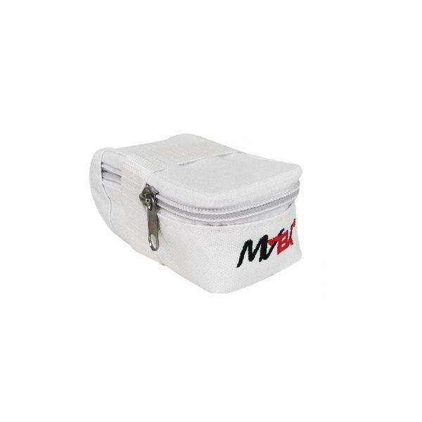 Semi rigid white saddle bag 26''