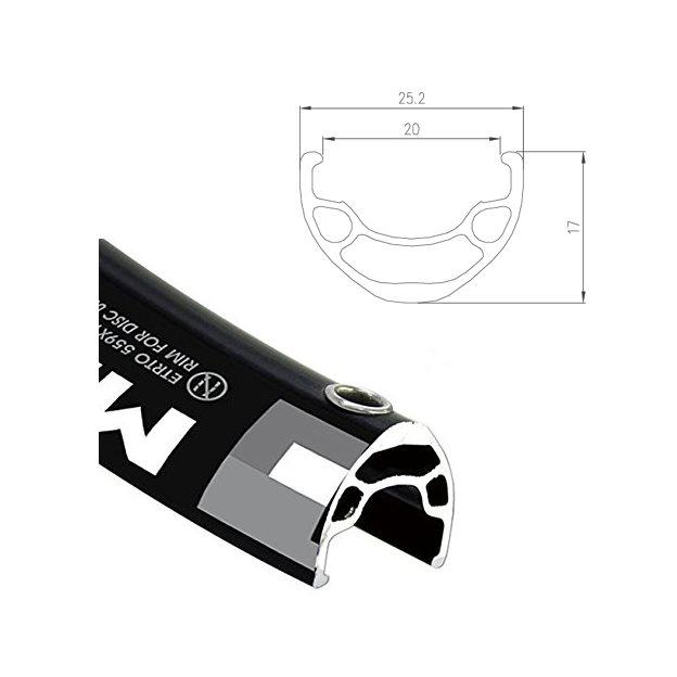 Cerchio MD19 alluminio 20-622 disco XC / AM 32H nero