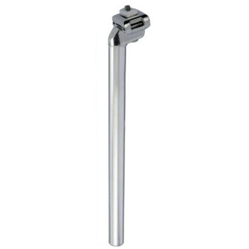 Silver aluminium seatpost 350mm long Ø size 30.0