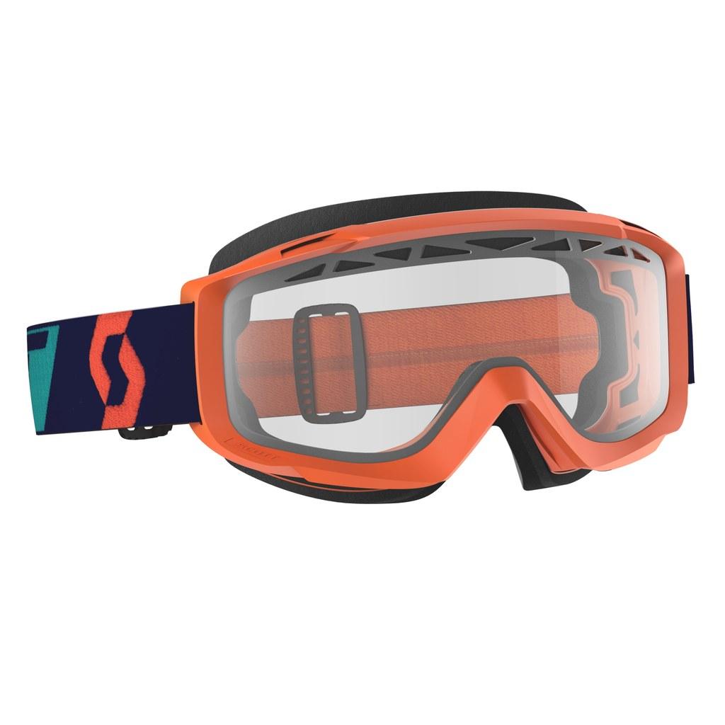 Maschera Split OTG enduro arancione lente clear  Motor