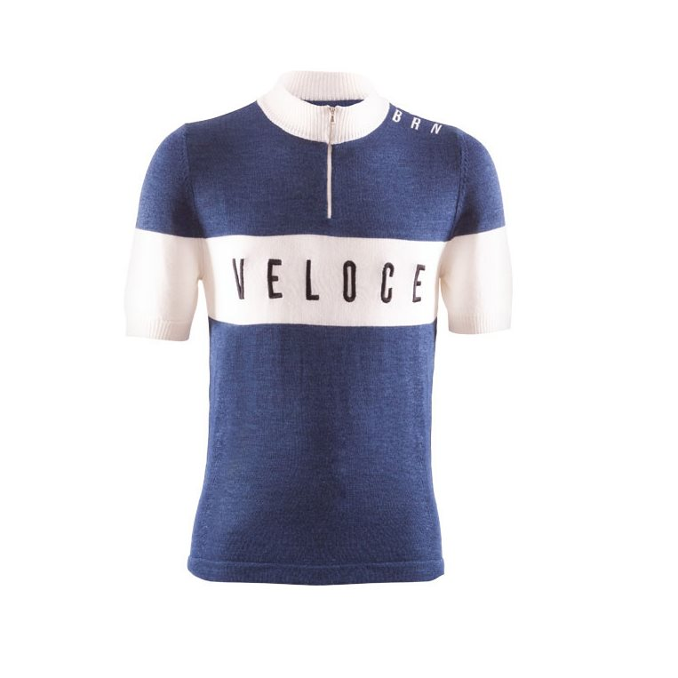 heroic cycling vintage Veloce shirt Size M blue
