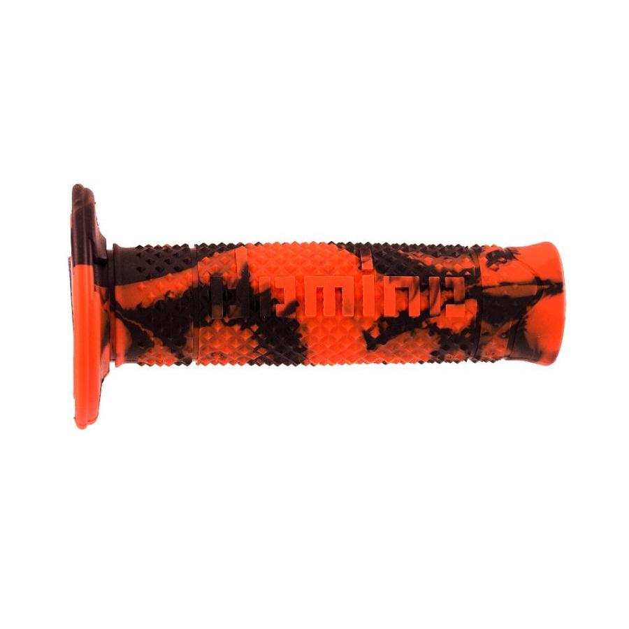 Couple handle grips snake orange-black