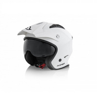 jet aria helmet shiny white xs white