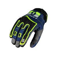 enduro gloves blue/yellow size s motor yellow