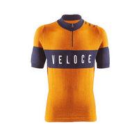 maglia vintage ciclismo eroica veloce taglia m giallo giallo