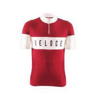maglia vintage ciclismo eroica veloce taglia m rosso rosso