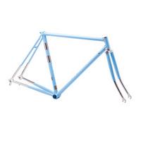 telaio corsa vintage in acciaio columbus taglia 53 azzurro azzurro