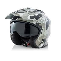 helmet jet aria camouflage xs gray
