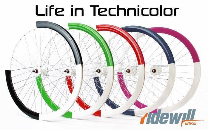 Ruote scatto fisso fixed bike bicolor