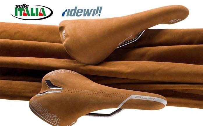 Selle Italia vintage retro saddle nubuk leather