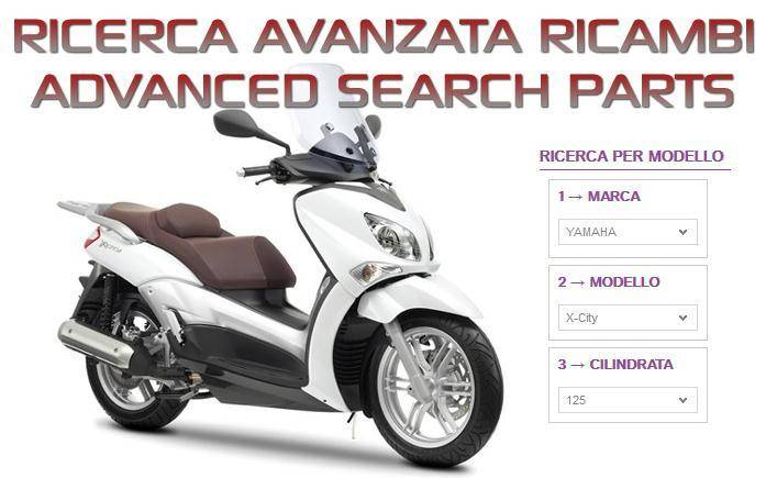 Ricerca per marca e modello moto o scooter
