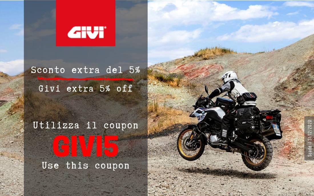 -5% EXTA OFF on GIVI brand!