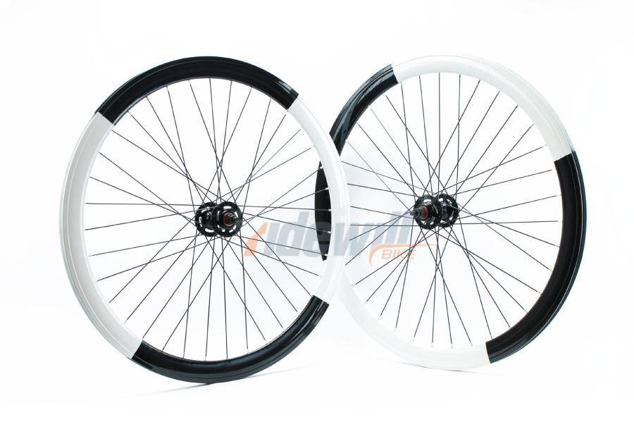 Coppia ruote Fixed Pista bicolor Yin Yang
