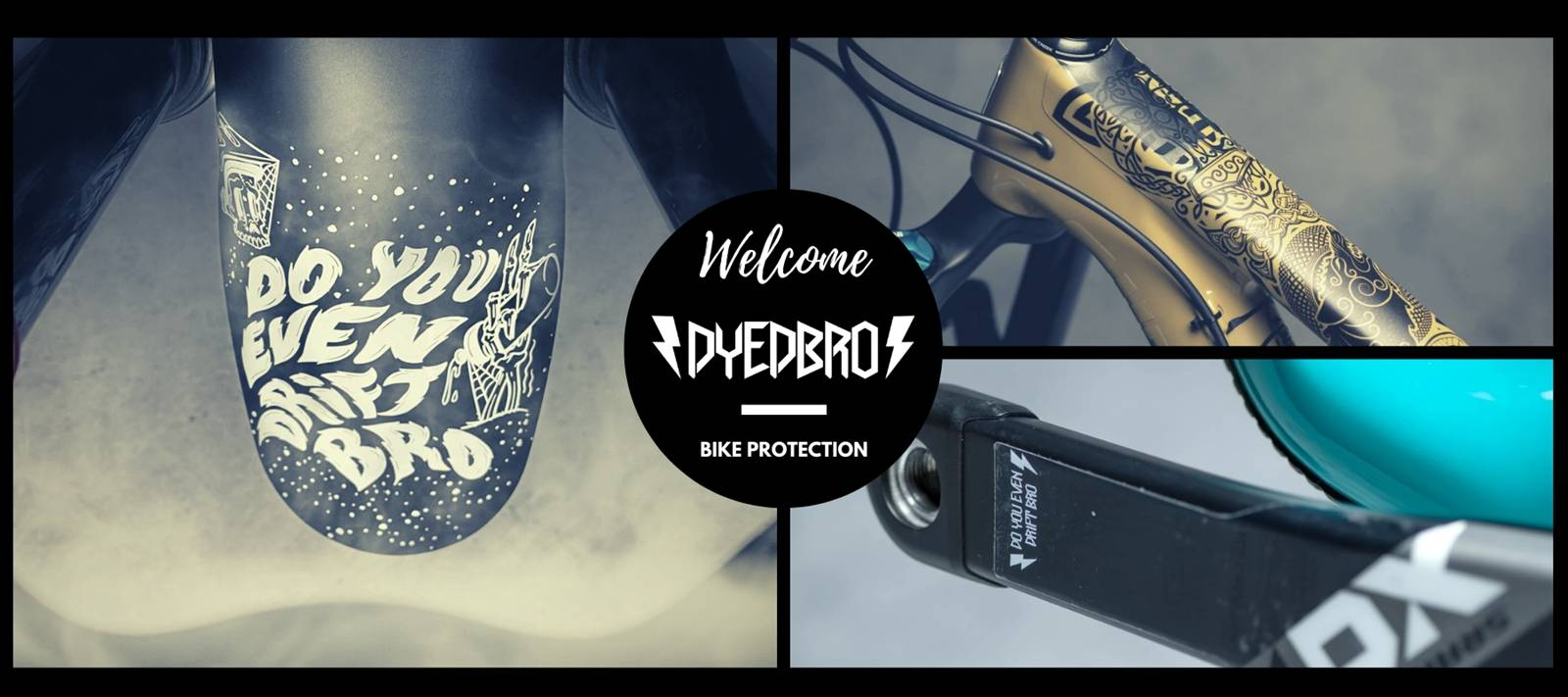 Welcome Dyedbro! The coolest way to protect your bìke