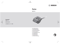 Manuale Display Bosch Purion