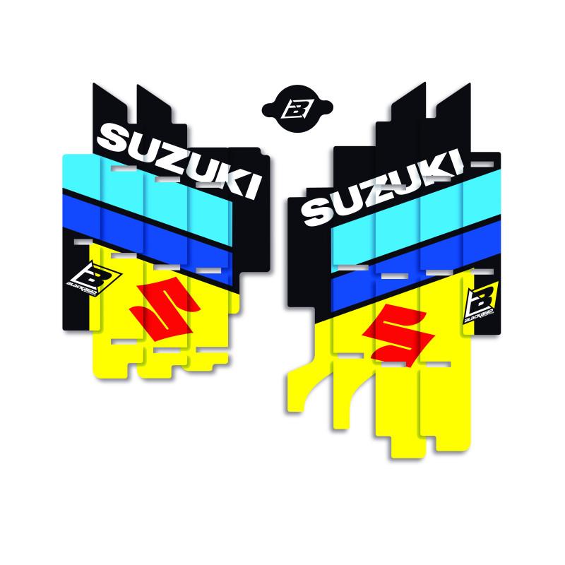 Radiator Louver Sticker Replica for Suzuki World Restyle for Suzuki