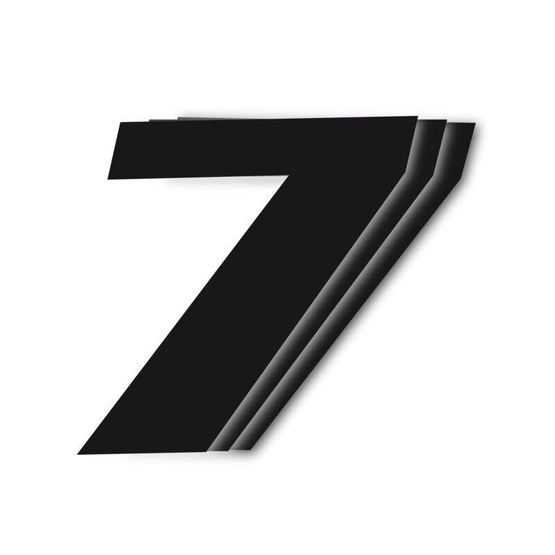 Black Number Seven 3pcs 16x20mm