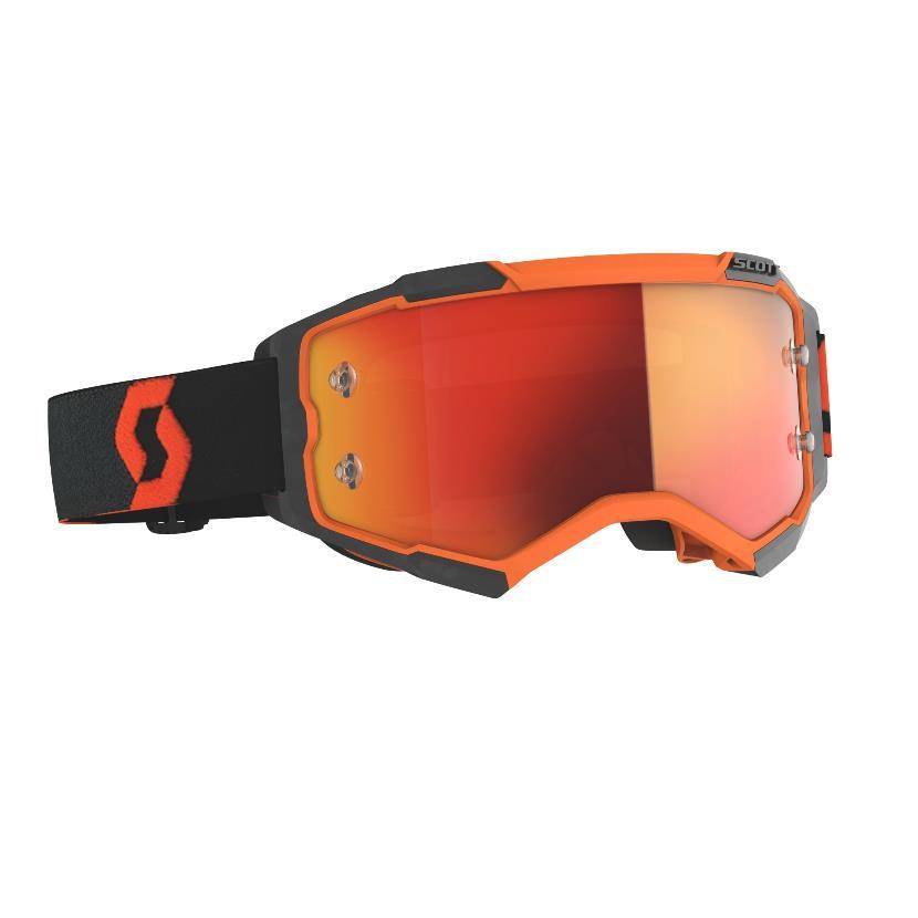 Fury goggle Orange Black - Visor Orange chrome works