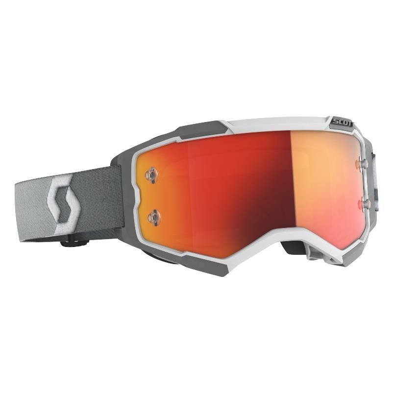 Fury goggle White Grey - Visor Orange chrome works