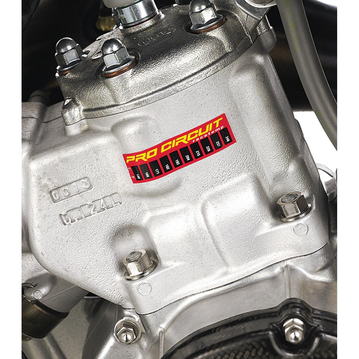 themperature strips engine heath