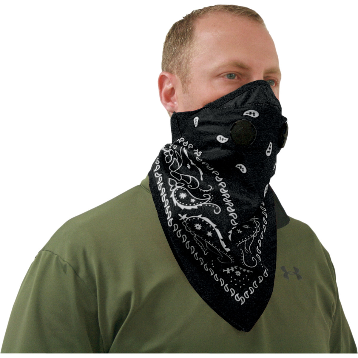 Mascherine antismog stile bandana motivo black paisley Pro Series