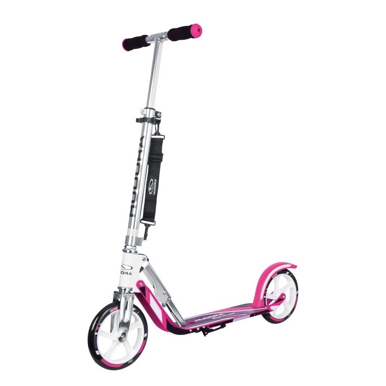 City scooter big wheel aluminum 8'' 205 pink/silver 205mm