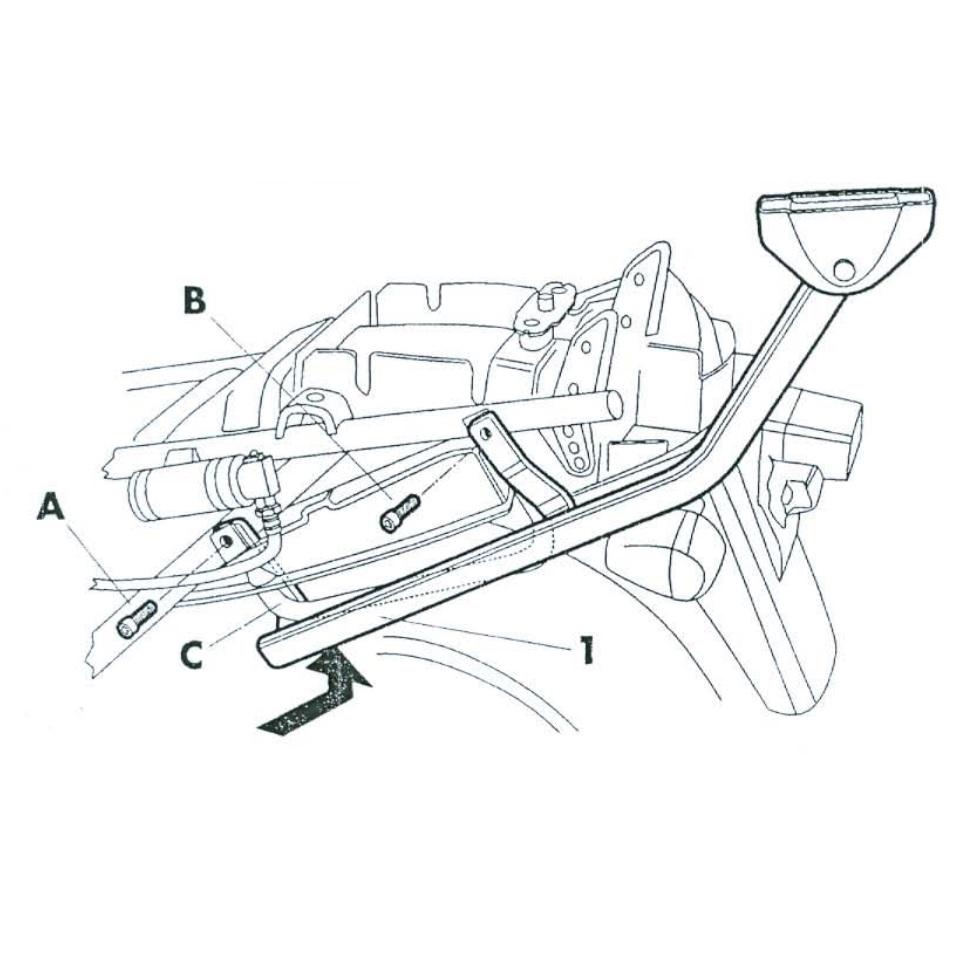 Rear rack for Suzuki Gsx600F 98>04 Gsx750F 98>02