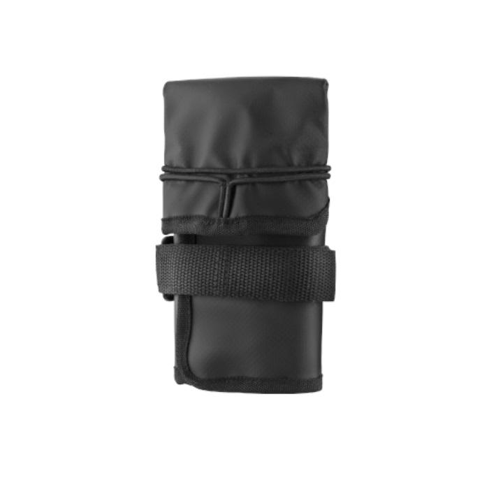 FeexRoll Roll-up folding black saddle bag