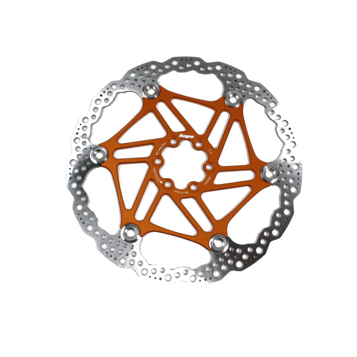 Floating disc brake 6 holes 220mm orange