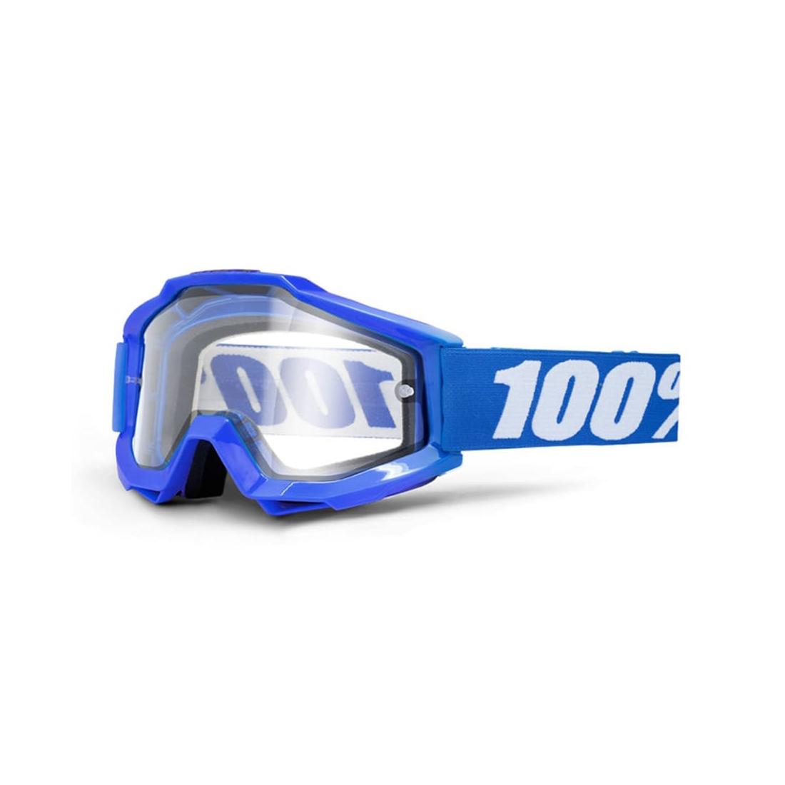 Accuri enduro goggles blue clear lens