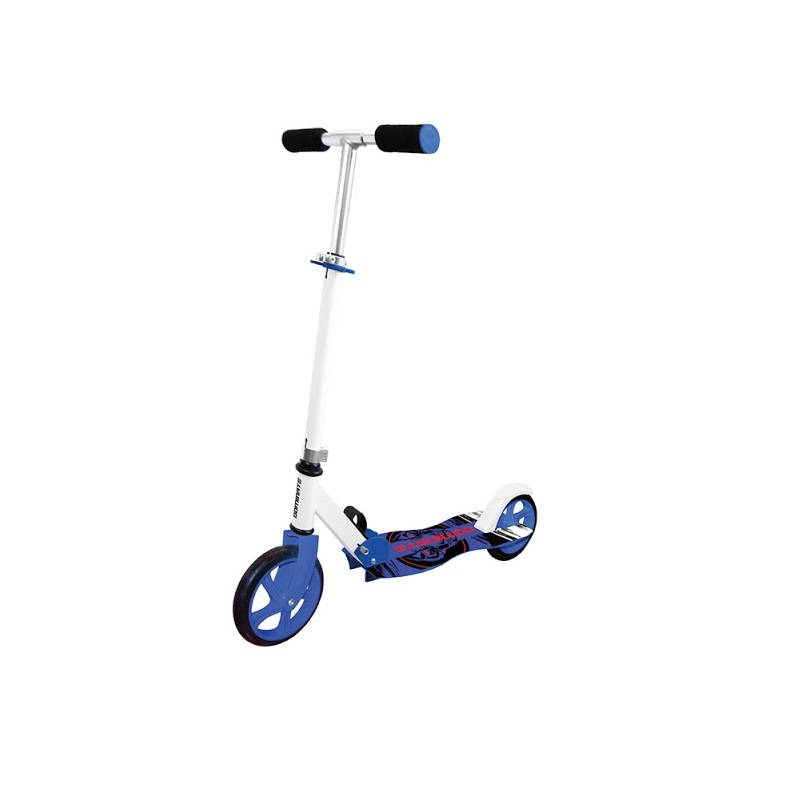 Alloy adjustable folding scooter curved blue Bike Sport