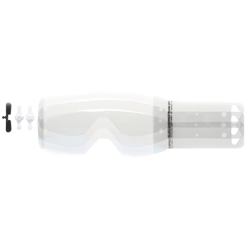 Tear offs 10 pieces for  Primal, Hustle MX goggles Motor