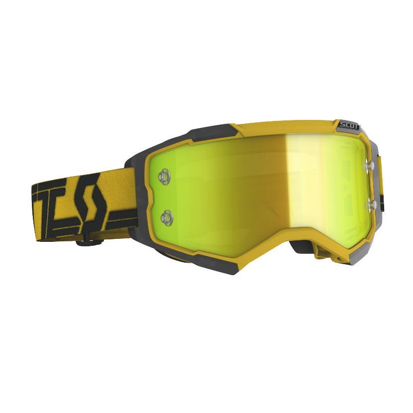 Fury goggle Yellow Black - Visor Yellow chrome works