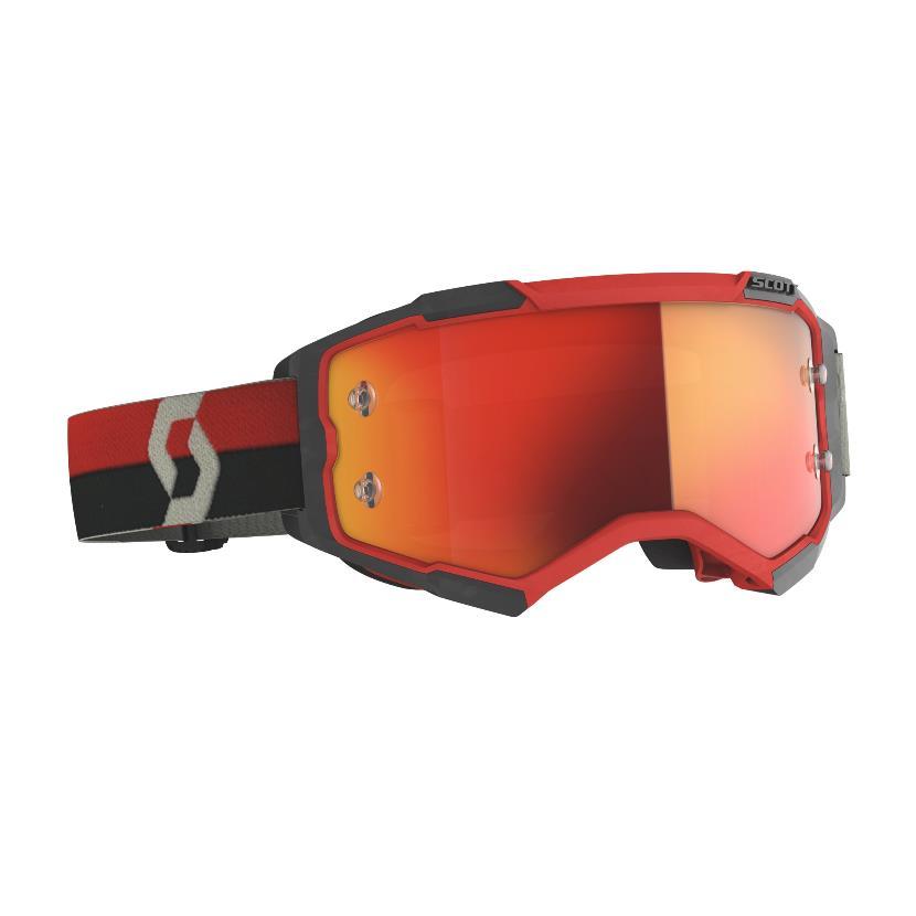 Fury goggle Red Black - Visor Orange chrome works