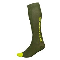 protective socks singletrack shin guard forest green size l/xl (43-47) green
