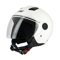 casco jet s779 leov visiera lunga bianco lucido xs bianco