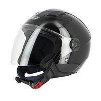 casco jet s779 leov visiera lunga nero lucido xs nero