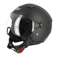 casco jet s779 leov visiera corta nero opaco xs nero