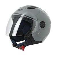 casco jet s779 leov grigio lucido visiera lunga xs grigio