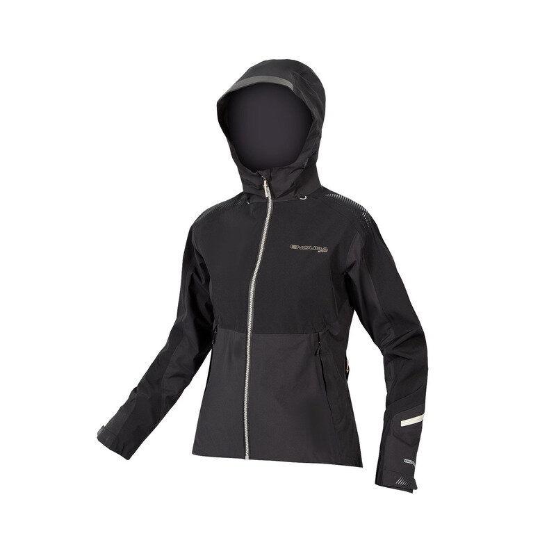 MT500 Waterproof Mtb Jacket Woman Black Size XS