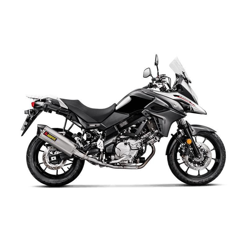 Racing exhaust for Suzuki DL 650 ABS V-Strom / XT - Titanium muffler with carbon cap