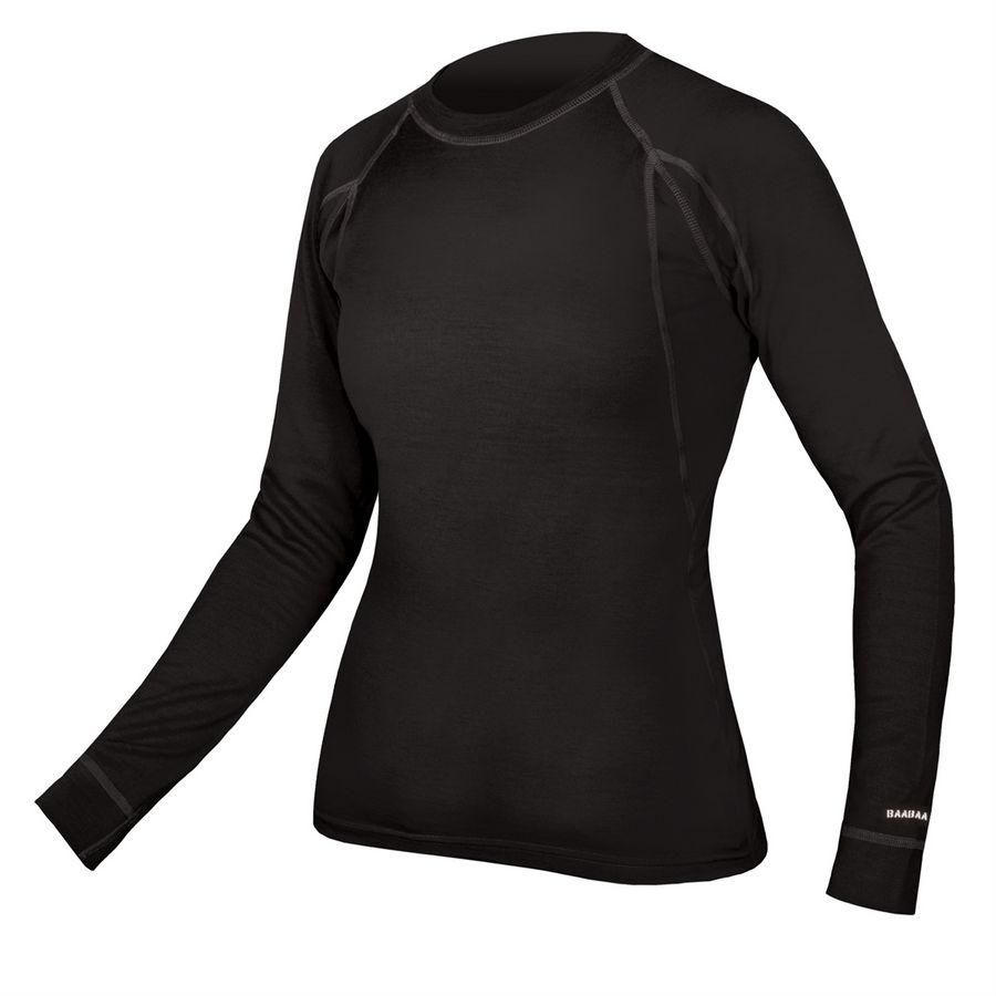 BaaBaa Merino Long Sleeve Winter Woman Baselayer Black Size XS