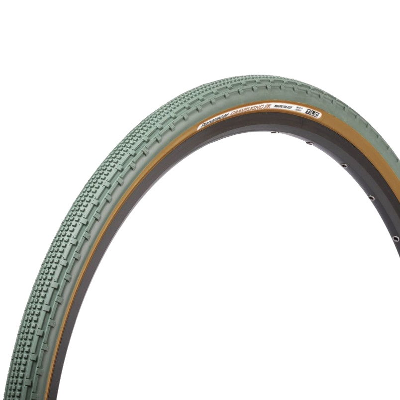 Tire Gravelking SK 700x38c Tr Skinwall Limited Edition Tubeless Ready Green/Skinwall