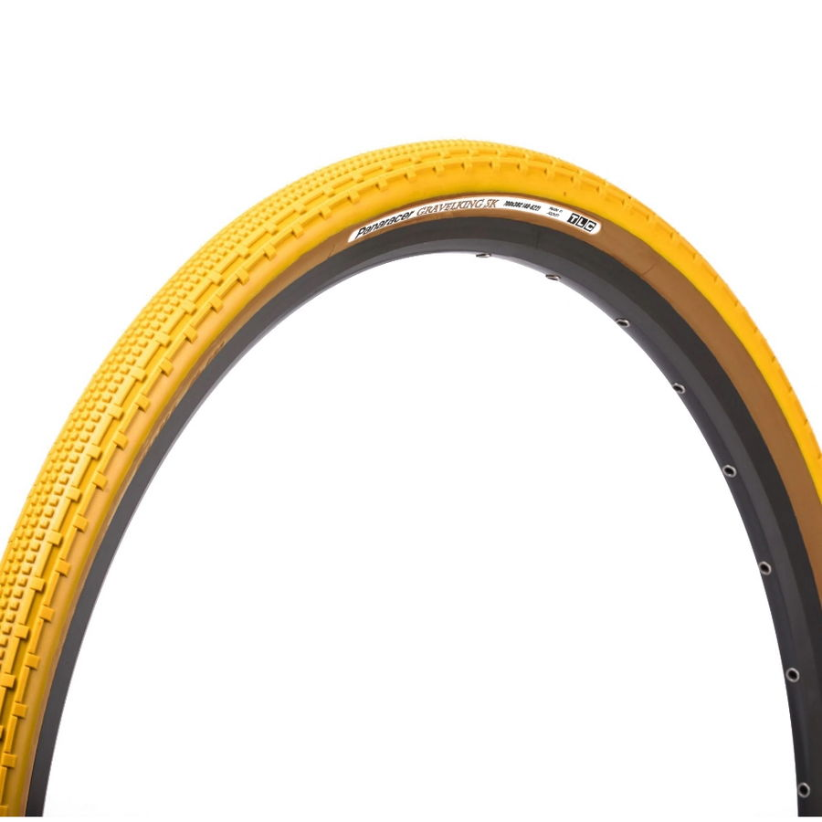 Tire Gravelking Sk 700x43c Tr Skinwall Limited Edition Tubeless Ready Yellow/Skinwall