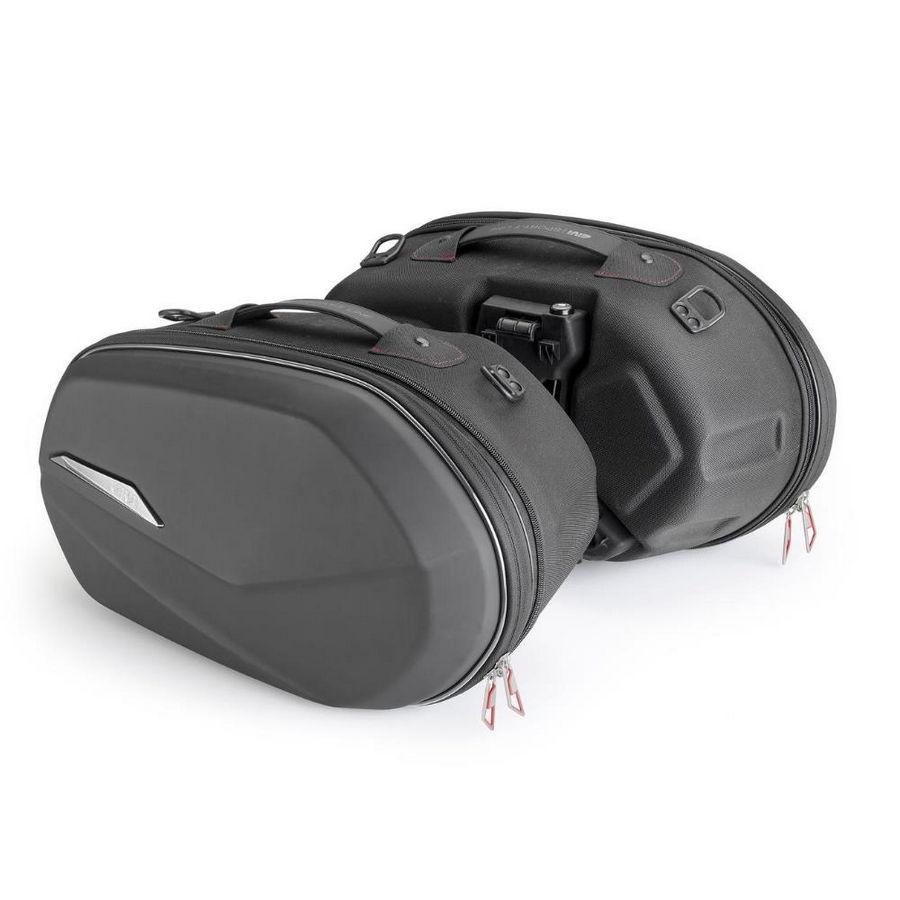 ST609 - Coppia di borse laterali espandibili, termoformate - Capacità 25+25 litri